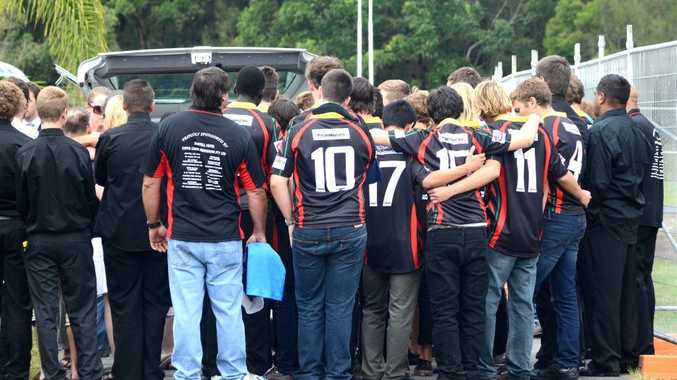 Jake Kedzlie furneral service held at Rex Hardaker Oval. Sawtell Under 16 player. Photo: Leigh Jensen / The Coffs Coast Advocate