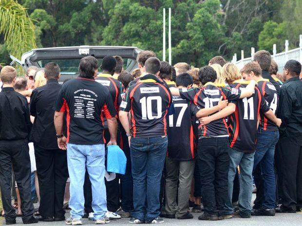 Jake Kedzlie furneral service held at Rex Hardaker Oval. Sawtell Under 16 player. Photo: Leigh Jensen / The Coffs Coast Advocate