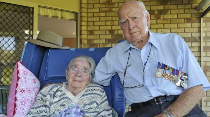 Dr Bob Goodwin with wife Marie, whom he married soon after the end of the Second World War.