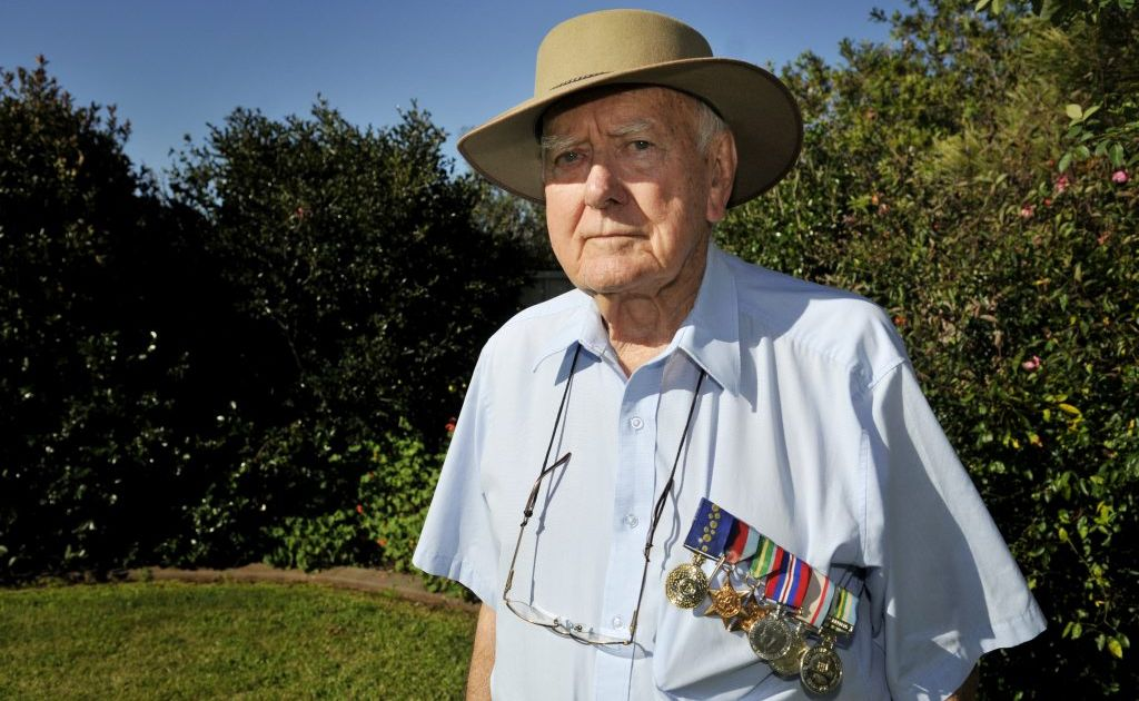 Highfields man Dr Bob Goodwin is preparing to return to Hellfire Pass in Thailand for Anzac Day, where he was a prisoner of war. Photo Chris Calcino / The Chronicle