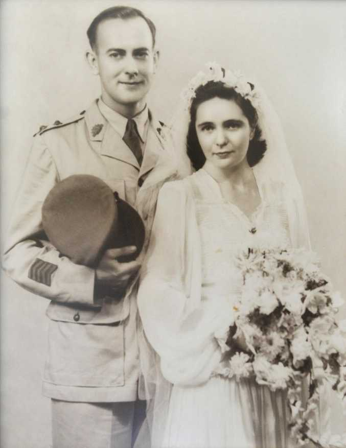 Dr Bob Goodwin and wife Marie on their wedding day in 1947.