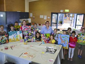 Young artists show off workshop handiwork