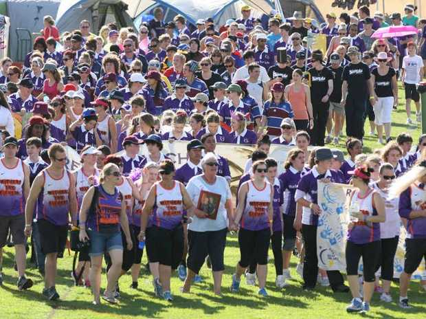 INSPIRING WALK: Teams take part in last year's Relay for Life event, which will be held this weekend at Jim Finimore Oval.