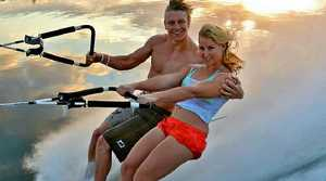 Ashleigh Stebbeings works at the World Barefoot Centre with her partner and fellow barefoot skier Ben Groen in Florida.