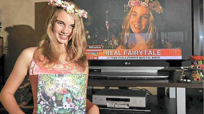 Samara Welbourne, 12, was on Channel 9's Today show to talk about her book How to Make Fairy Houses.