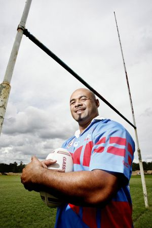 Charles Tonga in the colours of Swifts.