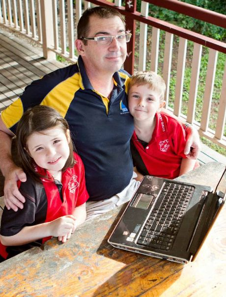 Gympie Bank of Queensland customer service officer and father of seven, Bruce Devereaux, has an online blog about family life and appeared on Channel 10's The Project last night.