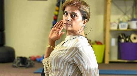Yoga guru Pushpa Bakshi.