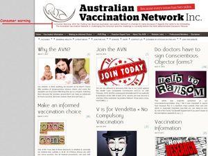 Anti-vaccine group displays warning signs
