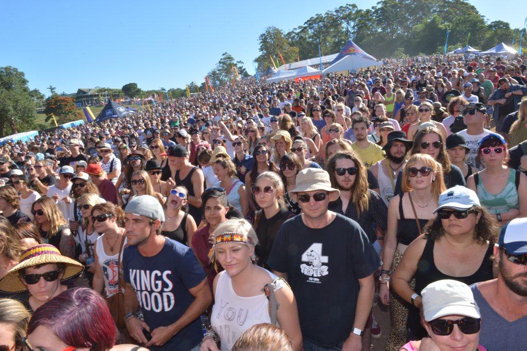 Big Pineapple Music festival. The crowd enjoying the fray.