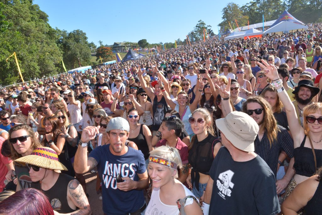 Crowds from the inaugural Big Pineapple Music Festival.