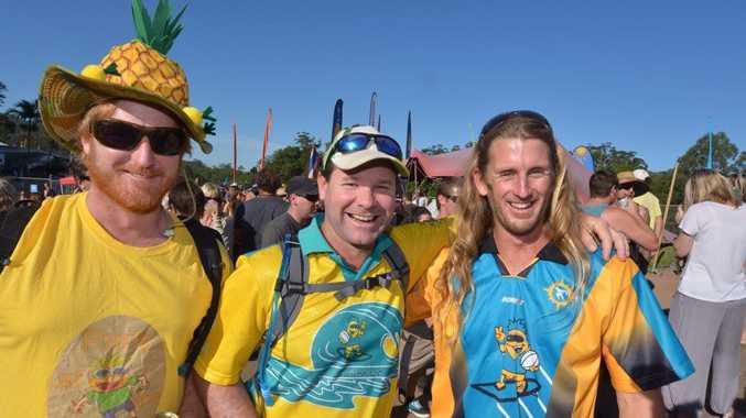 Big Pineapple Music festival. Mark Pullar, Hugh Jordan and Jamie Price. Photo: John McCutcheon / Sunshine Coast Daily
