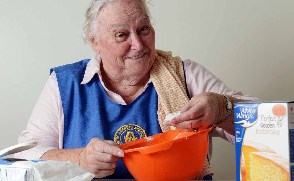 NOT ON YOUR NELLY: Branch President of the Lismore CWA, Jan Clifford of Goonellabah, cooking up a storm.