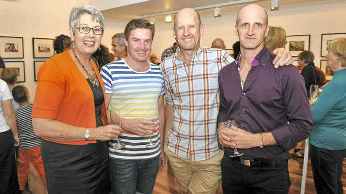 GALLERY CAMPAIGN: Lismore mayor Jenny Dowell, Hugh Mac Leod, CEO Arts Northern Rivers Peter Wood and director of the Lismore Regional Gallery Brett Adlington, at the launch to support the relocation of the gallery to the Lismore Quadrangle.