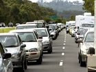 A car and truck crash has caused traffic chaos on the Sunshine Motorway.