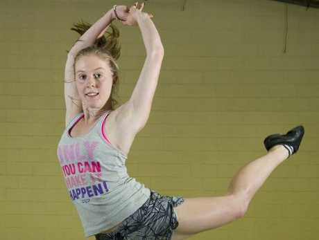 Camille Warfield uses dance to keep fit.