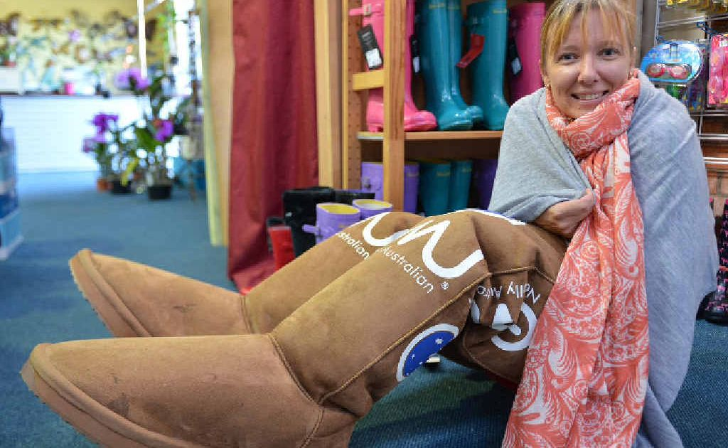 Gympie businesswoman Melissa Morley had just the right gear to rug up against the cooler weather on Sunday morning when the mercury plunged to almost six degrees.