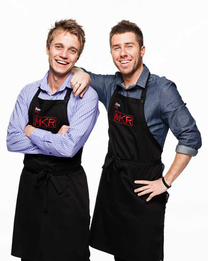 Sam and Chris are the first team to get the chop in MKR finals week.