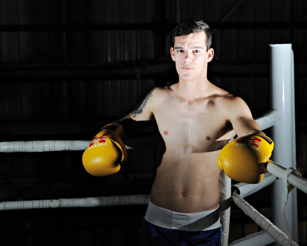 AIMING HIGH: Boxer Liam Nicolson, 19, grew up in Tannum Sands. He has been boxing for 13 years and aims to compete at the Olympic Games. He is also completing a diesel fitter apprenticeship.