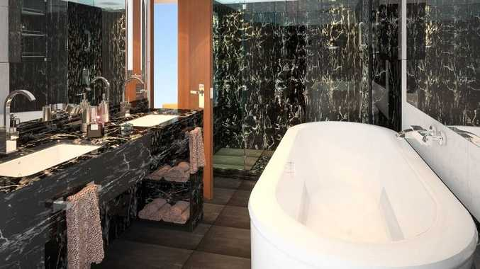The bathroom in one of the Seabourn Penthouse Spa Suites.