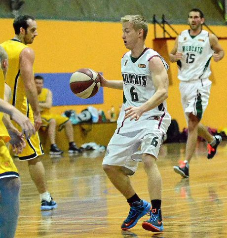 Jesse Pyke in possession in the Warwick Wildcats game against Brisbane Vikings at WIRAC.