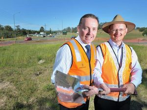 Rivals bury differences as road project begins