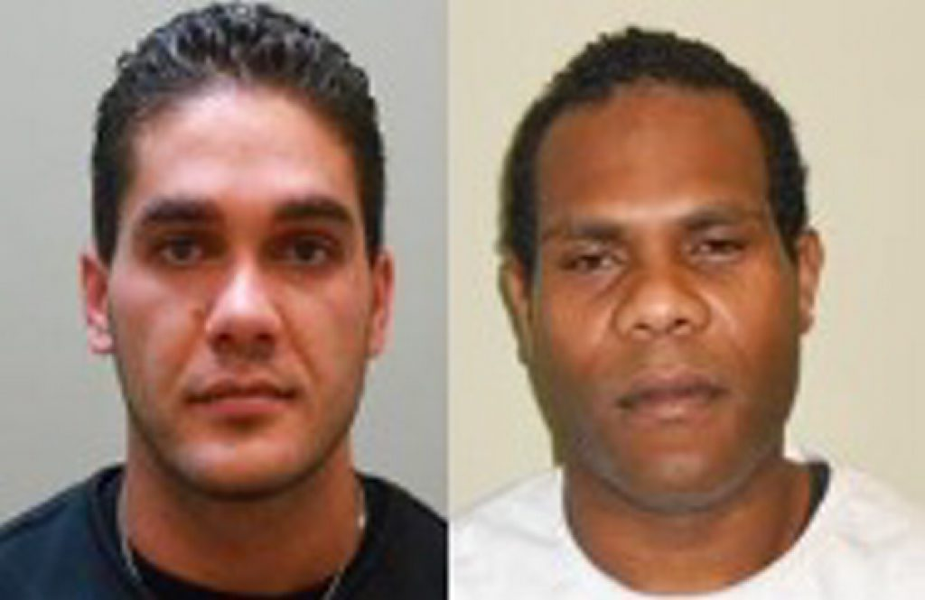 Missing men Tyrone Speechly (left) and Algana Amos James Tiers. Photo Contributed