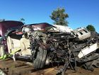 The wreckage of a vehicle after a fatal accident on the Pacific Highway at Ulmarra. Picture: CONTRIBUTED