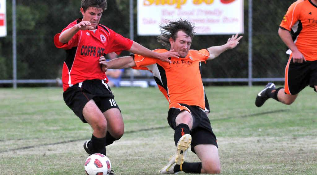 GOOD FORM: Scott Goddard was one of Coffs United's goalscorers in its 5-2 win. Leigh Jensen