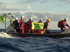 "Greenpeace protesters have ""no intention of getting off"""