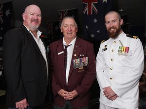 Three generations of Hansen family in Anzac march
