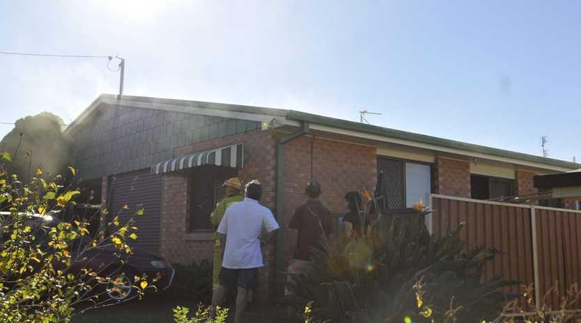 Fire in unit Marwedel St Kearneys Spring.