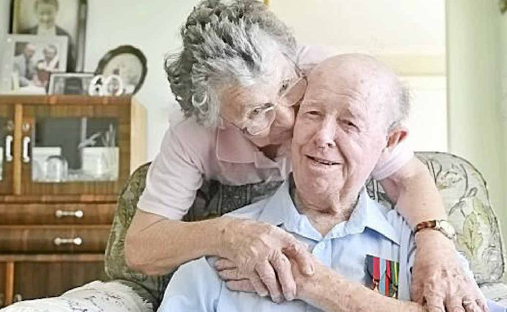 RIGHT: Bill and Edna Jarrett of Ballina. Bill served in the navy in the Second World War and his father served in both world wars.