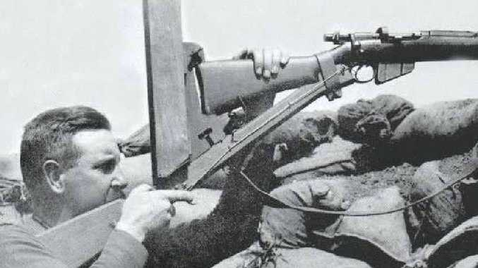 The periscope rifle used at Gallipoli, designed by an Australian, allowed the Anzacs to remain hidden while shooting at the enemy.