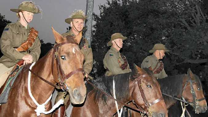 The 11th Light Horse Warwick Montrose Troop attended Warwick's Anzac Day dawn service for the first time yesterday.