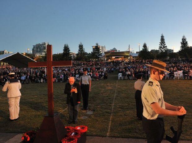 The Anzac Day 2013 dawn service at Kings Beach.