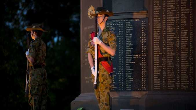 Anzac Day at Mothers' Memorial in Toowoomba.