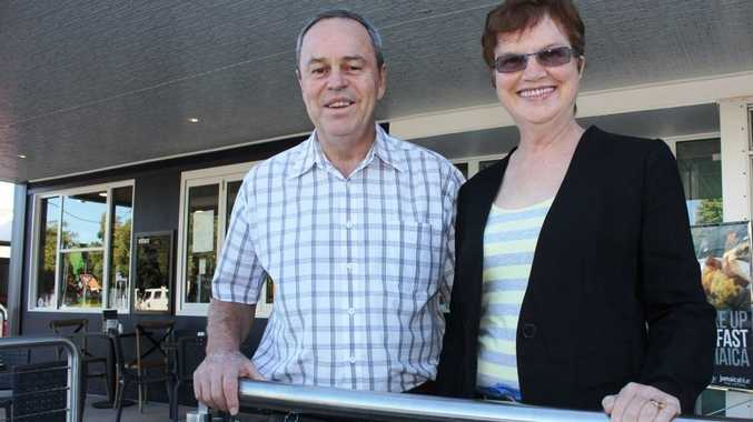 ALL TO PLAN: Developers of the Bell Street business centre, Lloyd and Kay Beasley.