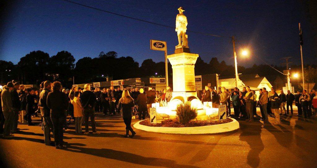 Anzac Day Dawn Service at Dorrigo. Photo: Vivian Hoskins