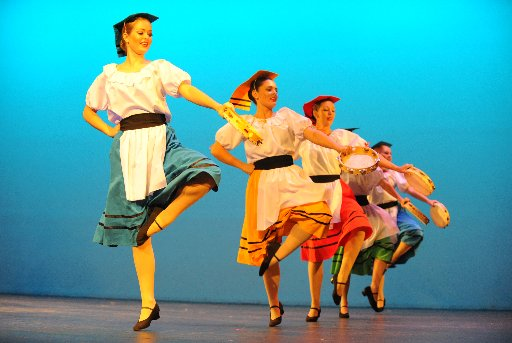 Dancers on stage at the Moncrieff Entertainment Centre during the Bundaberg Dance Eisteddfod. Photo: Mike Knott / NewsMail