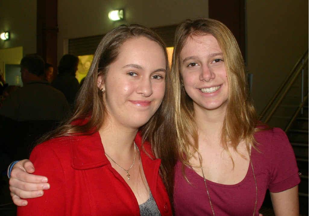 ET VOILA!: Kaitlin Ronan and Sophie Yates attending last year's Rockhampton French Film Festival.