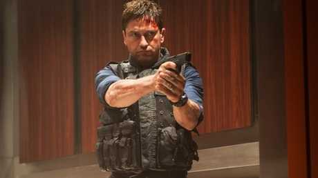 Gerard Butler in a scene from the movie Olympus Has Fallen.