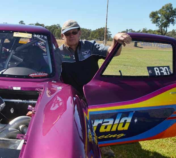 Laurie Fitzgerald, seen here with his dragster at last week's Show and Shine at Cities.