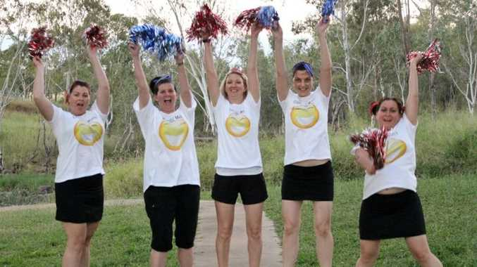 Anika Campbell, Tina Daniel, Brianna Baggow, Rosie Goulevitch and Robyn Neyland are all running to raise funds for Mater Children's Hospital.