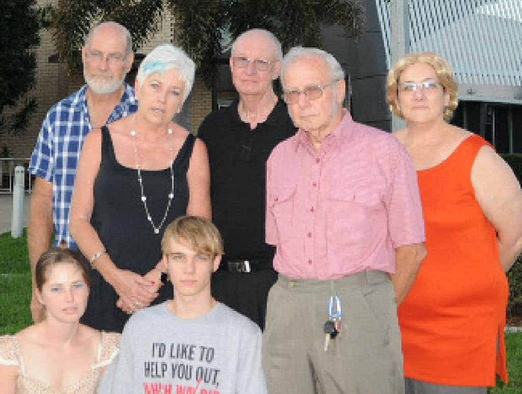 CIVIC CENTRE WOES: Gympie's performing arts community wants the council to upgrade the Heritage Theatre. Pictured are Zodiac Players Ian Wensel, Donna Lyden, Nick Rinehart, Peter Blyth, Monika Habel, Char South and Ken Welton.