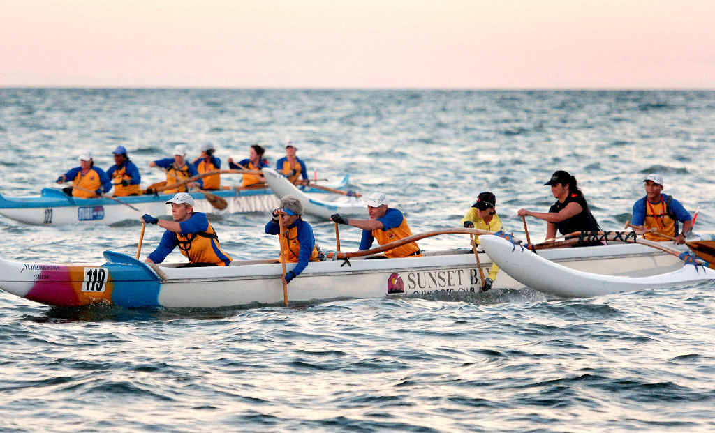 Paddlers from the Sunset Bay outrigger club will be training hard all week for the upcoming regatta.