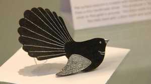 One of Jenny Maynard's contemporary jewellery pieces – a bird brooch.