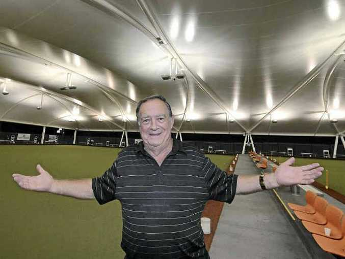 WE'RE READY: Neil Henricks of Mooloolaba Bowls Club is preparing for the widening of Brisbane Rd.