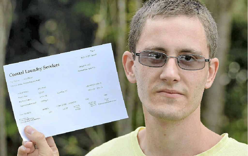 FAIR WORK ACTION: Cerebral palsy sufferer Corey Blinco says he hasn't been paid correctly.