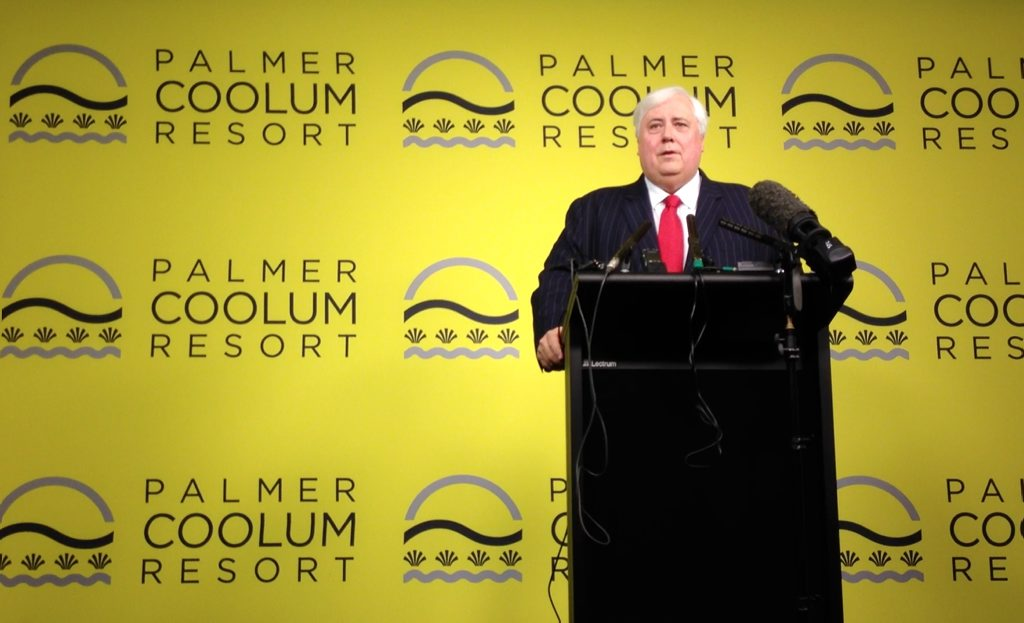 Clive Palmer at his now-shuttered resort on the Sunshine Coast.